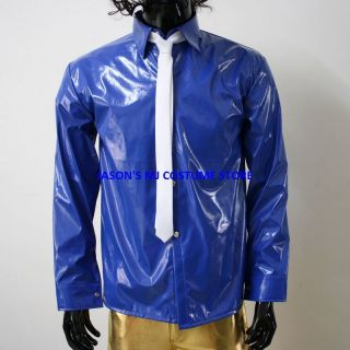 Michael Jackson Blue PVC Dangerous Shirt Tie Pro Series