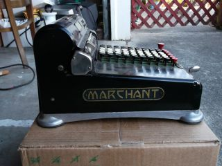 Marchant Hand Crank Adding Machine Circa 1922 Serial H6 56331