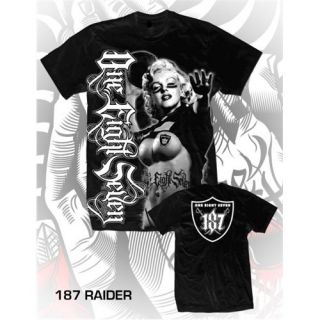 OAKLAND RAIDERS MARILYN MONROE MENS SHIRT 187 INC NFL CHICANO RAP