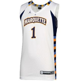 Marquette Golden Eagles 1 Youth Replica Basketball Jersey White