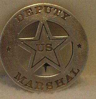 Deputy US Marshal Old West Police Badge Sheriff Ranger