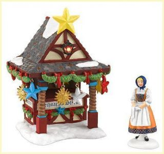 56 Alpine Village Christmas Market Tree Topper Booth Brand New