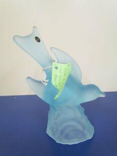 Smith Flying Bird Light Blue Satin Figurine 4401