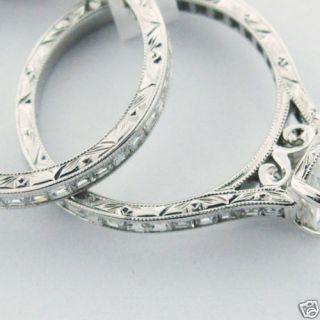 Martin Flyer Gold Diamond Wedding Engagement Ring Set