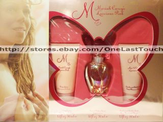Mariah Carey Luscious Pink 3pc Gift Set 1oz EDP Spray 1 7 Lotion