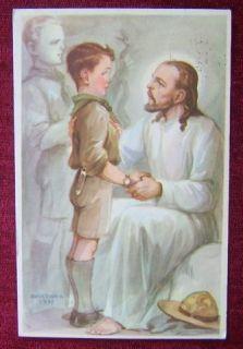 Hungary Boy Scout Postcard Signed Márton 1937