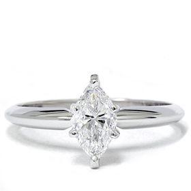 FANCY 1 00 CARAT MARQUISE CUT DIAMOND SOLITAIRE ENGAGEMENT RING 14K
