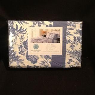 Martha Stewart Woodland Toile 3 Piece Full Queen Comforter Cover Set