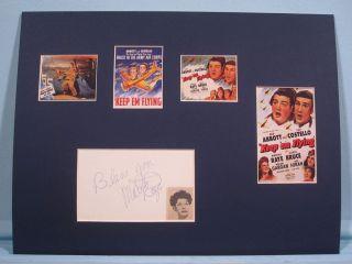 in Keep Em Flying Co starring Martha Raye Her Autograph