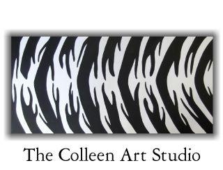 zebra modern art painting animal print original wall artwork home