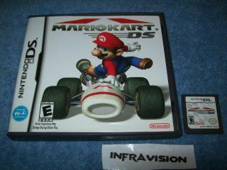 Mario Kart DS Nintendo DS 2005 DSi 3DS Game Case Nice
