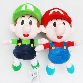 Mario Bros Plush Toy Stuffed Animal Doll Baby Mario Luigi 9