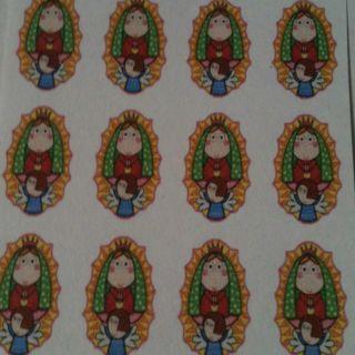 Virgin Mary of Guadalupe Water Slide Nail Decal Virgencita Plis