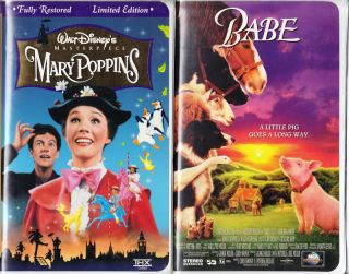 Mary Poppins VHS 1997 Clam Shell s E Babe 2 VHS 786936027518