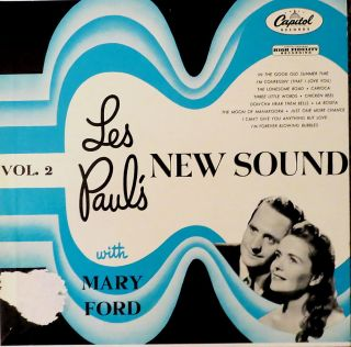 Les Pauls New Sound Vol 2 with Mary Ford 1955 Capitol LP Turquoise