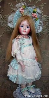Antique Reproduction porcelain doll by Emily Hart dress Mary Lambeth