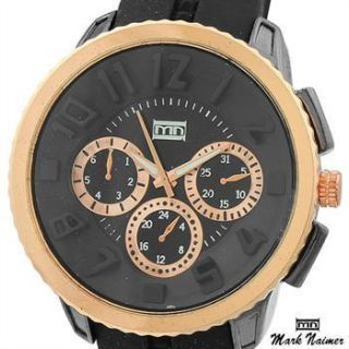NEW AUTHENTIC MARK NAIMER 51MM ROSE GOLD STAINLESS STEEL QUARTZ WATCH
