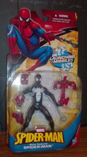 Spiderman Action Figure Marvel Black Costume MOC 2010 Hasbro Amazing