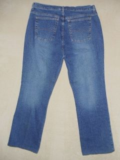 018U St. Johns Bay Womens Plus Size 37x29 Blue Jeans Stretch Boot Cut