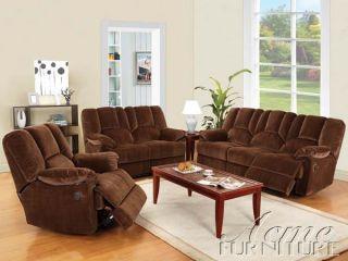 Acme Furniture Obert Power Recliner Brown Sofa Loveseat Living Room