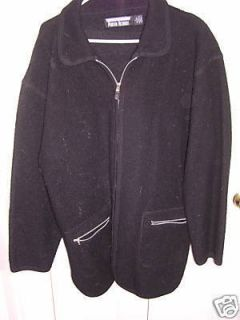 Perry for Marvin Richards Black Wool Jacket Large