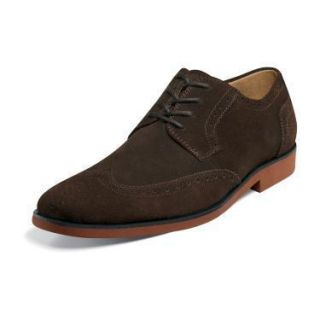 Stacy Adams Telford Mens Dress Shoes 24723 Brown Suede All Sizes