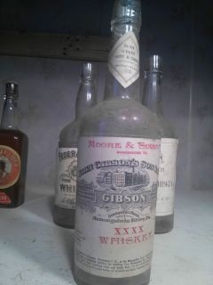 BIM Whiskey Bottle Gibson Moore Sinnott Monongaheln River PA Penn
