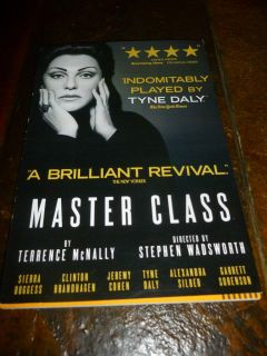 Master Class Script Broadway Tyne Daly