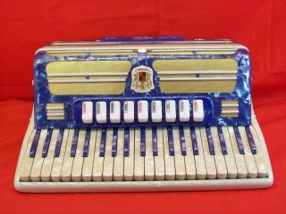 Vintage Marotta Castelfidardo 120 Bass Accordion w Case and Straps