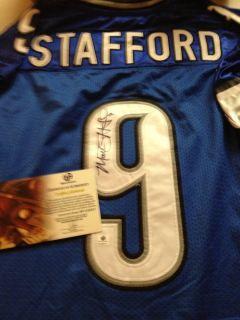 Mathew Stafford Detroit Lions Signed Jersey GAI