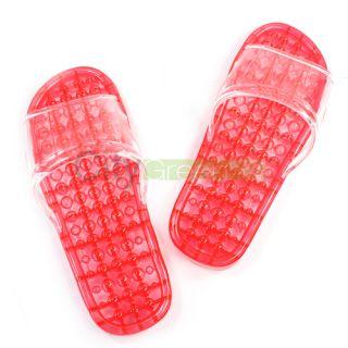 Ladys Massage Flip Flop Slippers Foot Massager Sandals Red Shoes M 38