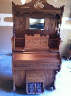 Vintage Antique Cable Company Chicago Cottage Reed Pump Organ and