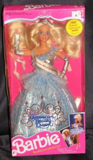 Mattel Barbie Doll 1991 American Beauty Queen Barbie 3137
