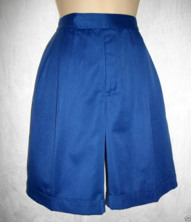 RALPH LAUREN Royal Blue VINTAGE Shorts Womens 10 POLO SPORT Pleated
