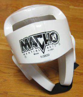 Macho Martial Arts Karate White Sparring Head Gear