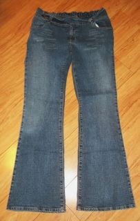 Motherhood Maternity Under Belly Boot Cut Distressed Jeans Size Small