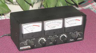 Astatic 600 Power SWR Meter CB Rado Ham Radio Good Condition