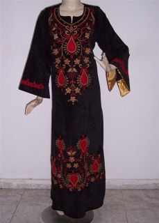 Embroidered Long Kaftan Caftan Jilbab Abaya Arabic Maxi Dress