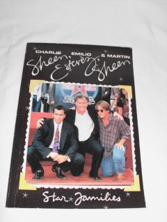 Charlie Sheen Emilio Estevez Martin Sheen by Skip Press Star Families