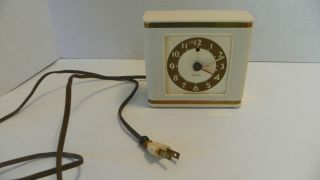 VINTAGE WESTCLOX BACHELOR ART DECO ALARM CLOCK MODEL S5 A ELECTRIC
