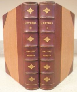 LETTERS OF MATTHEW ARNOLD COMPLETE 2 VOL LEATHER FINE BINDING RARE