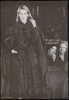 1977 Pretty Woman Maximilian Fur Coat Photo Ad