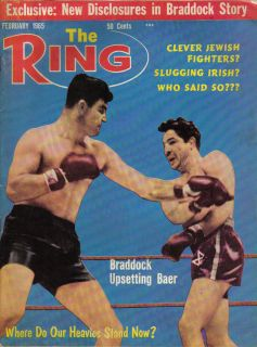 1965 (Feb.), The Ring, boxing, magazine, Jim Braddock, Max Baer