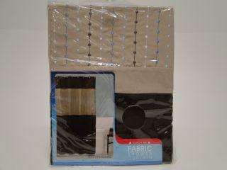 Maytex Mills 70 X 72 Embroidered Fabric Shower Curtain Alex Chocolate