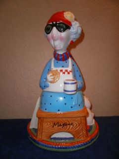 Hallmark Maxine Ceramic Cookie Jar L K