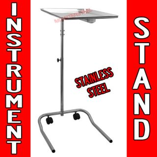 Instrument Stand Salon Body Piercing Steel Tray Equipment Mayo