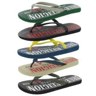 True Religion Jeans Malibu Rubber Flip Flops Thongs Mens Sandals Shoes