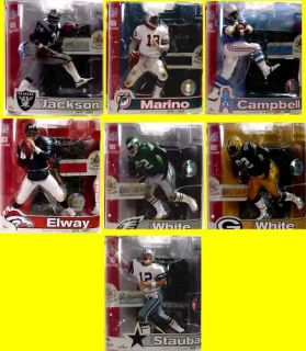 McFarlane Sports NFL Legends Series 3 Figure Set of 7