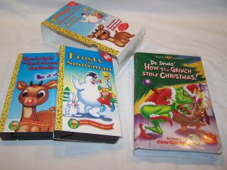 Christmas Classic Cartoons Rudolph Frosty Grinch VHS