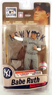 McFarlane Cooperstown 7 Babe Ruth Figure Gray Jersey Calling His Shot